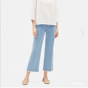 Eileen Fisher Organic Cotton Stretch Raw Edge Jean
